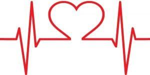 EKG line in shape of a heart